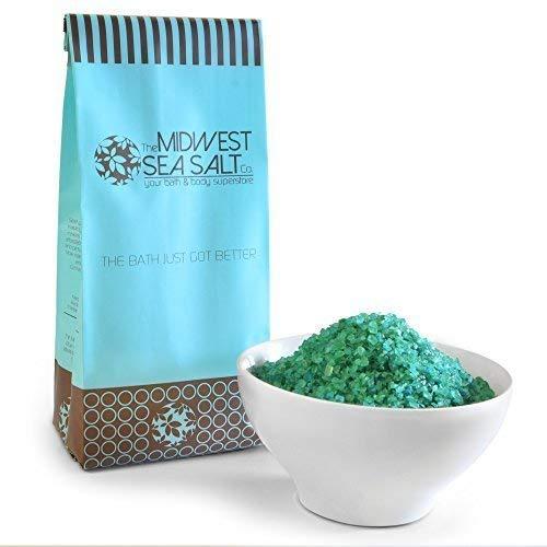 Midwest Sea Salt Company Eucalyptus menthe verte de la Méditerranée bain de trempage salée 5lb (en vrac) céréales secondes