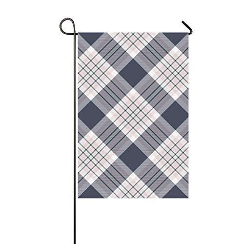 JOCHUAN Home Dekorative Outdoor Doppelseitiges Karohemd Diagonale Stoff Textur Garten Flagge, Haus Hof Flagge, Garten Hof Dekorationen, saisonale Willkommen Outdoor Flagge (Argyle Stoff)