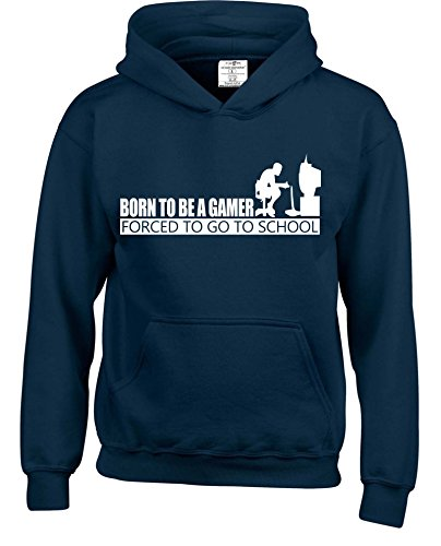 Born To Be A Gamer Forced To Go To School Kids Hoodies Available in multiple Colours And Sizes.Free Delivery