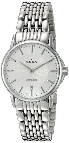 EDOX Womens Analogue Quartz Watch with Stainless Steel Strap 57001 3M AIM