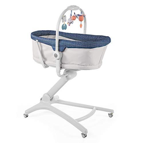 Chicco Chicco Baby Hug 4en1 - Sistema multifunción: moisés, hamaca, trona y silla, regulable en altura, color azul (Spectrum) - moisés, hamaca, trona y silla