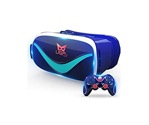 Nola Sang 3D VR Gläser Virtual Reality Headset mit Iphone Android Bluetooth Fernbedienung, Watching 360 Grad Panorama-Videos und 3D-Filme Immersive Spiele 3,5-6 Zoll Bildschirm , B