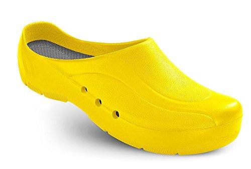 Schürr ORTHOClogs OP-Schuh mit und ohne Fersenriemen Unisex Gelb