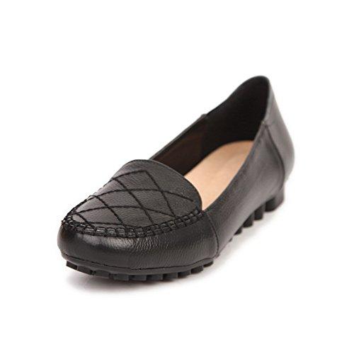 BalaMasa da donna, senza tacco Imitated pompe-Scarpe in pelle Black