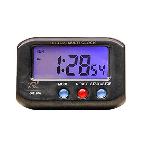 SO-buts Tragbare Elektronische Uhr mit Leuchtenden Mini Digital Hintergrundbeleuchtung LED Anzeige Tabelle Wecker Snooze Kalender (Schwarz) (Tabelle, Mini-kühlschrank)