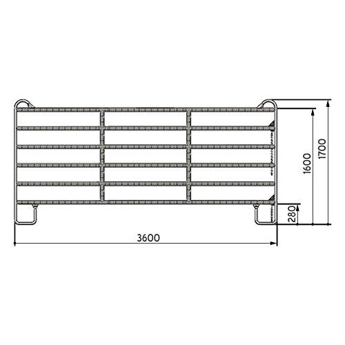 Kerbl Panel – Zaunelement 3,6 m mit Schnell-Kettenverschluss - 2
