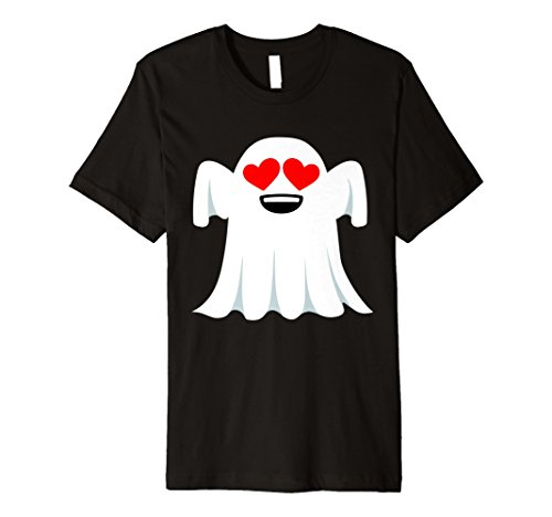 Ghost Emoji-T-Shirt Herz Augen Halloween-Kostüm - Spooky Ghost Kind Kostüm