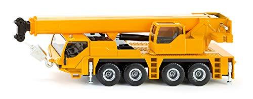 SIKU 2110, Kranwagen, 1:55, Metall/Kunststoff, Gelb, Teleskopierbarer Ausleger -