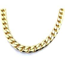 TENDENZE Collar Cadena Gourmette 18k oro doublé 11mm longitud seleccionable directamente desde la fábrica italiana para
