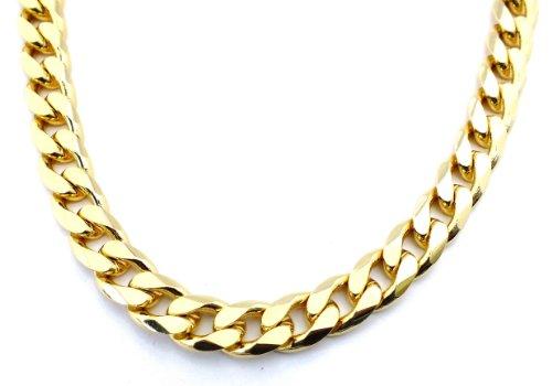 ld Doublé 13mm breit, 70cm lang, Halskette Goldkette Herren-Kette Damen Geschenk Schmuck ab Fabrik Italien tendenze GGY13-70 ()