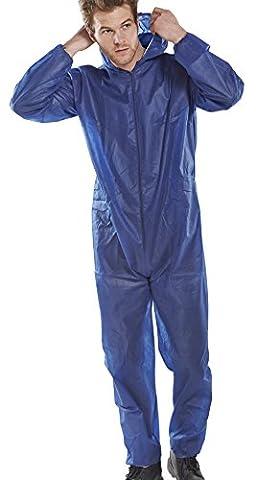Workwear World WW208 Bleu de travail jetable Combinaison de protection à fermeture Éclair Avec capuche Taille M-XXL - bleu - L