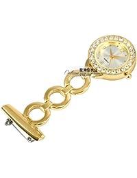 ShopyStore Gold 2016 Fashion Womens Nurse Fob Watches Elegant Vintage Crystal Gold Silver Pocket W
