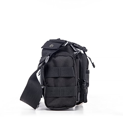 Herren Tactical Gürteltasche Hüfttasche Beutel für Militär Camping Wandern Outdoor Bauchtasche,Dunkelbraun Schwarz