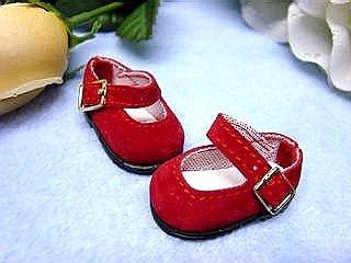 Schildkröt Puppenkleidung, Puppenschuhe für 25 cm Puppen, rot