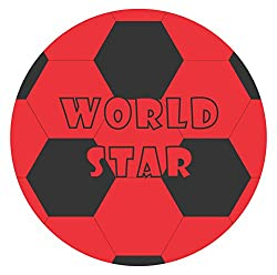 Jusplay Simba World Star Deflated PVC Play Ball, Multi Color