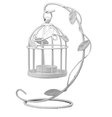 LAAT Candle Holder Birdcage-shape Metal Tealight Lanterns LED Wedding ChristmasTable Home Decoration from LAAT