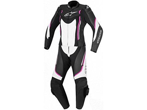 Alpinestars Stella Motegi V2 2-Teiler Damen Lederkombi 40 Schwarz/Weiß/Pink