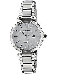 Seiko Damen-Armbanduhr XS Solar Analog Quarz Edelstahl SUT153P1