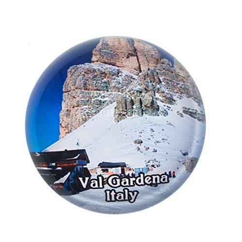 Val Gardena Italien Kühlschrankmagnet 3D Kristall Glas Tourist Stadt Reise Souvenir Sammlung Geschenk Starke Kühlschrank Aufkleber Gläser Sammlung