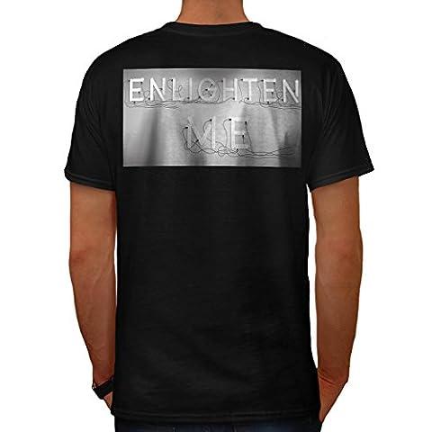 Erleuchten Mich Zitat Slogan Birne Lampe Herren M T-shirt Zurück   Wellcoda