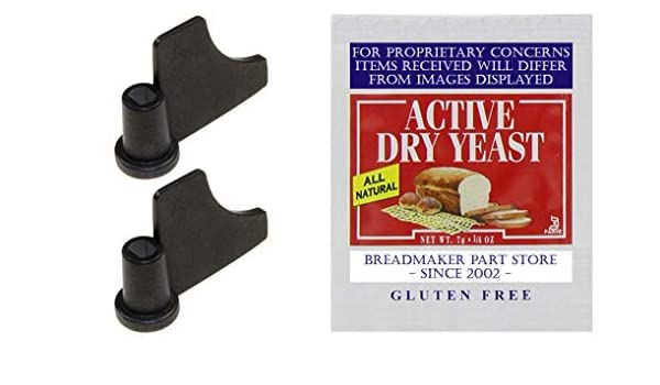 Kneaders//Yeast Bundle NEW Kneading Paddle Set FITS SINGLE-LOAF PAN On BLACK/&DECKER MODEL # B2300 All-In-One Deluxe Breadmaker B-2300 Bread Maker Machine Mixing Blade Part # B2300-02 /& 5411089130103