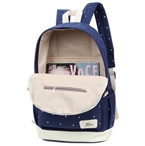 Imagen de hosaire backpack  escolares mujer  escolar lona bolsa casual para chicas bolsa de hombro mensajero billetera 3 piezas verde  alternativa