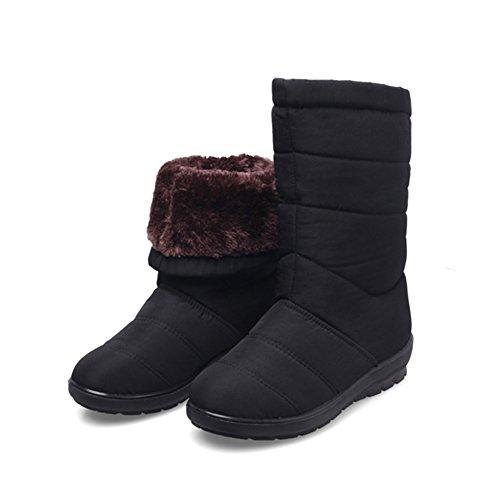 QIANGDA Alunno Inverno Stivali Da Neve Donna Scarpe Di Cotone Con Nappe  Addensare Foderato Impermeabile Antiscivolo