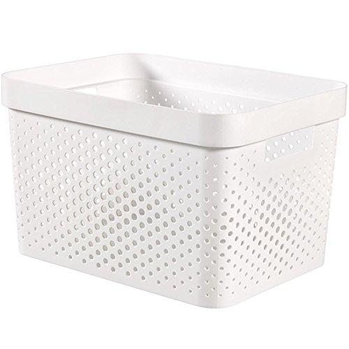 CURVER Infinity Box 17L Aufbewahrungsbox, Plastik, weiß, 35.6 x 26.6 x 21.8 cm