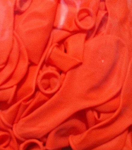 Sachsen Versand 100 NEON-Farben-orange Luftballon-s-Deko-Geschenk-Idee-Schmmuck-Schmücken Helium geeignet