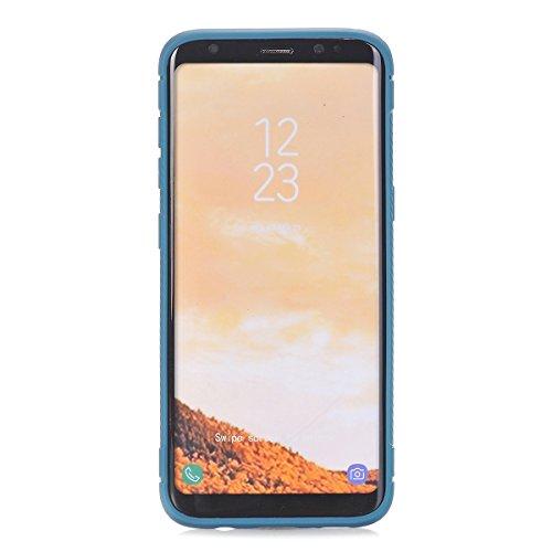 Galaxy S8 Plus Coque,EVERGREENBUYING Ultra Slim léger Etui SM-G9550 Cases Housse Premium Anti-rayure & TPU doux Antiglisse Cover pour Samsung GALAXY S8 Plus / S8+ Bleu Bleu