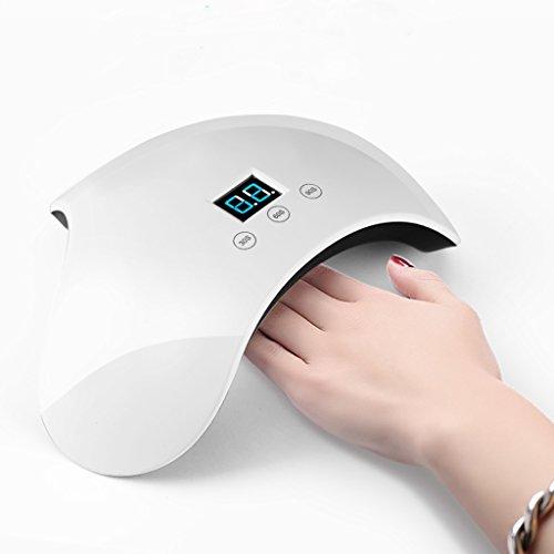 Trockner Timer-schalter (CJJC Abody Nagel Lampe UV LED 24W Smart Nagel Trockner mit 3 Timer Für Nagellack und Gel, Fingernagel und Zehennagel Gel Aushärtelampe)