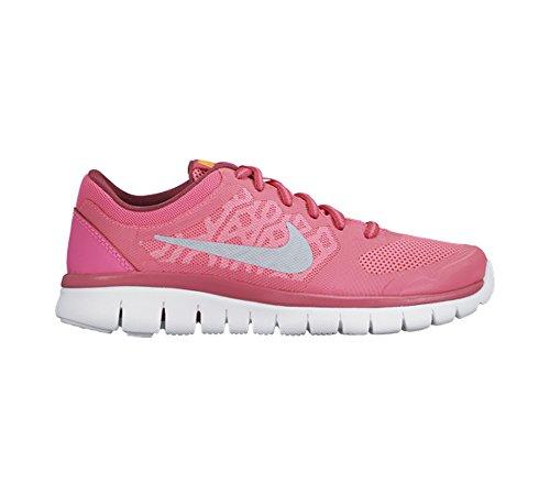 Nike Jungen Flex 2015 Rn (Gs) Laufschuhe rosa-grau-weis