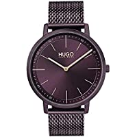 Hugo Boss Women's Aubergine Dial Ionic Plated Aubergine Steel Watch - 1540011