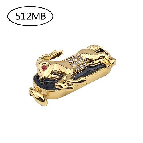 samLIKE Funny Memory Stick Sternbild Flash Drive mit Schlüsselring 512MB-64GB Externer Expansion Speicherstick USB Stick, für PC/Laptop und andere USB-Geräte (512MB, Steinbock)