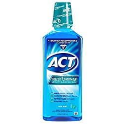 ACT Restoring Anticavity Fluoride Mouthwash, Cool Mint 18 fl oz/532 ml -1 Pack
