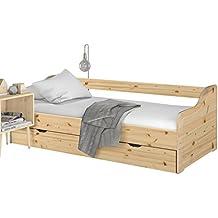 Loft24 Melissa Ausziehbett 90x200 Cm Bett Mit Bettkasten Kinderbett  Funktionsbett Kojenbett Bettgestell Gästebett Tagesbett Couchbett Kiefer