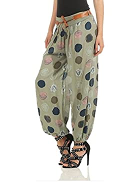 Hibote Mujer Pantalones Largos Harem Pantalón Baggy Yoga Holgados Flojos Suave Casual Pantalones Aladín Floral...