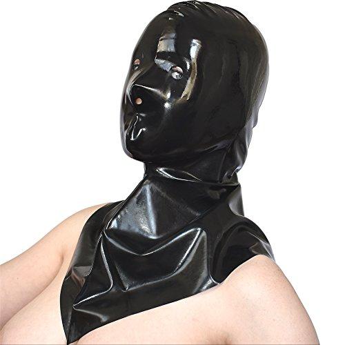 MASKE mit großem Kragen* Gummi Hood Haube (Henker Masken)