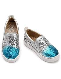 XL_etxiezi Zapatillas Casual para niñas, Azul_28