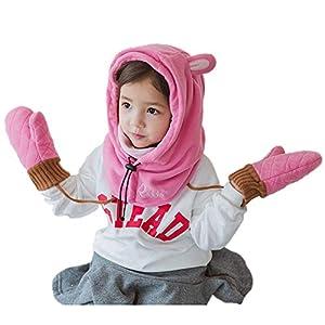 Fancyland Set Handschuhe&Skimaske – Windschutz Beim Sport, Skifahren – fr Kinder Mädchen Jungen Sturmhaube Sturmmaske