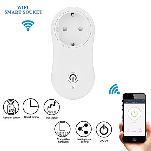Outlet Kit (Wifi Smart Plug, ONEVER Wireless Wifi Intelligente Steckdose Power Outlet Arbeit mit Alexa & Google Home, schalten ON / OFF Elektronik von überall kontrolliert von iOS und Android App)