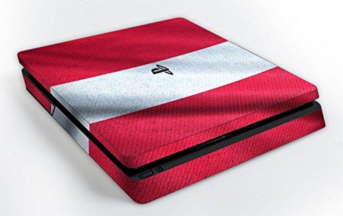 """Designfolie Sony PlayStation 4 Slim (PS4 Slim) """"Österreich Flagge"""" Skin Aufkleber"""