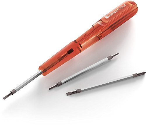 Preisvergleich Produktbild PB Swiss Tools Insider Mini - Schraubendreher mit 3 Umsteckklingen, Griff mit praktischem Clip (Version mit Pentalobe)