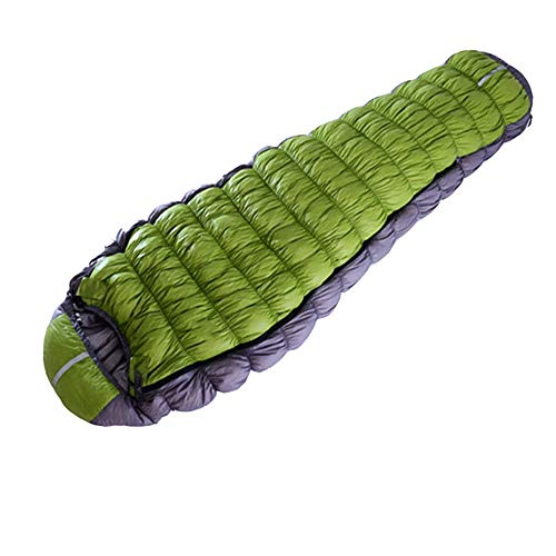 FGKING Ultraleichter Daunenschlafsack, Daunenschlafsack, rechteckiger Schlafsack Umschlagschlafsack für Wanderungen, Rucksacktouren und Camping,Grün,800G -