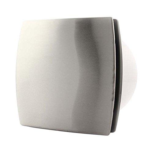 Unbekannt Neu Wand-Ventilator Wandlüfter Ø 100 mm/Edelstahl Lüfter Badlüfter Ilox (HT - Feuchtesensor + Nachlauf) - 100-mm-lüfter