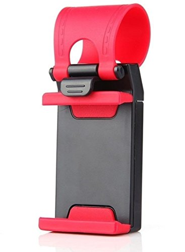 ManeKo Car Steering Wheel Mount Cradle Mobile Holder / GPS Suction Holder upto 4.8 Inches - Car Mobile Holder for Maruti Suzuki Old Swift Dzire All Models & Types  available at amazon for Rs.135