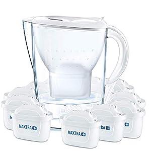 41qSOS4cASL. SS300  - BRITA Wasserfilter Marella weiß inkl. 12 MAXTRA+ Filterkartuschen - BRITA Filter Jahrespaket zur Reduzierung von Kalk, Chlor & geschmacksstörenden Stoffen im Wasser