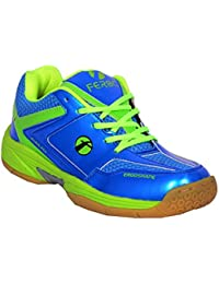 Feroc Non Marking Blue & Green Unisex Badminton Shoe (FREE Delivery)