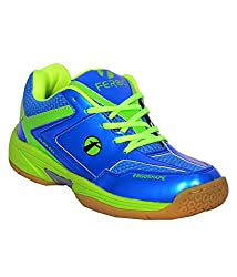 Feroc Blue & Green Unisex Badminton Shoe (10, Blue Green)