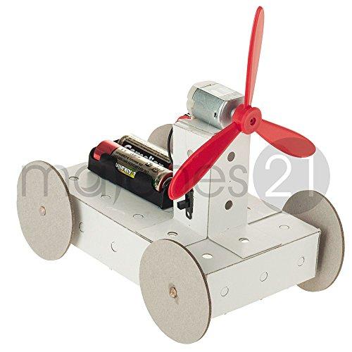 matches21 Propeller Fahrzeug Karton Funktionsmodell Bausatz f. Kinder Werkset Bastelset ab 10 Jahren